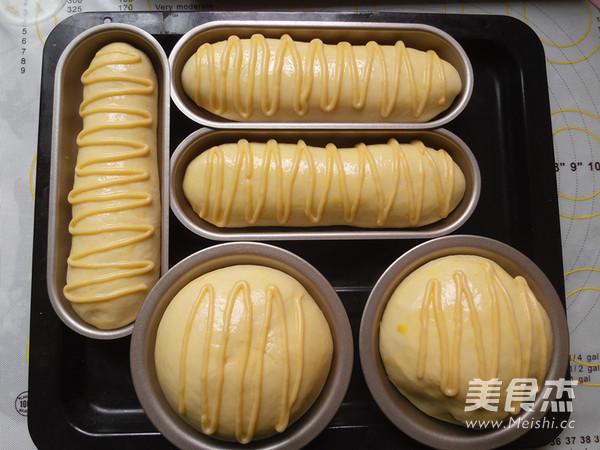 鲜奶雪路面包的制作
