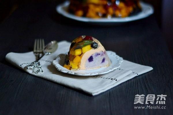 紫薯奶酪水晶慕斯成品图