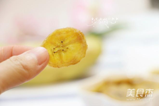 煎香蕉片成品图