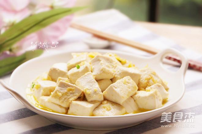蛋黄豆腐成品图