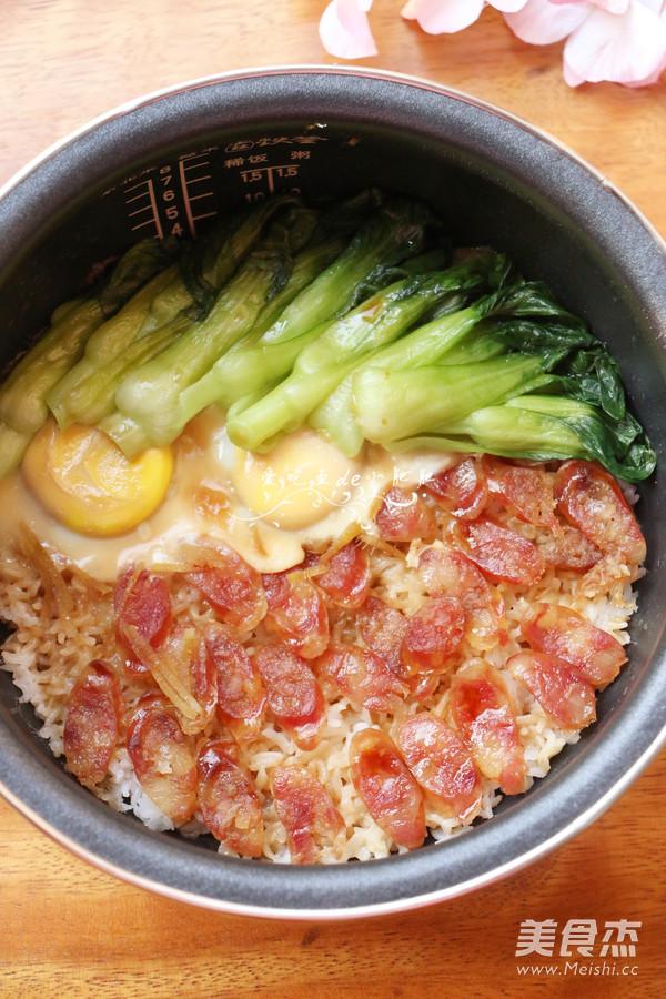 广式腊肠煲仔饭的制作方法