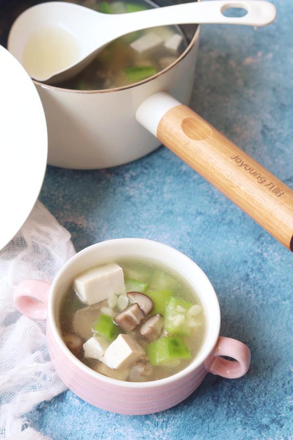 丝瓜香菇肉片汤的制作方法