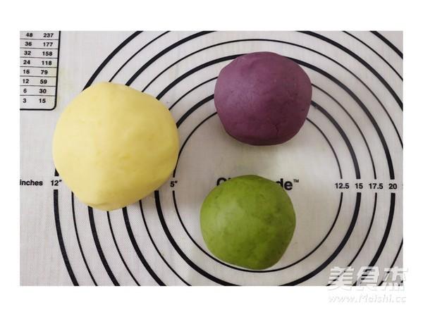 彩色绿豆饼的制作