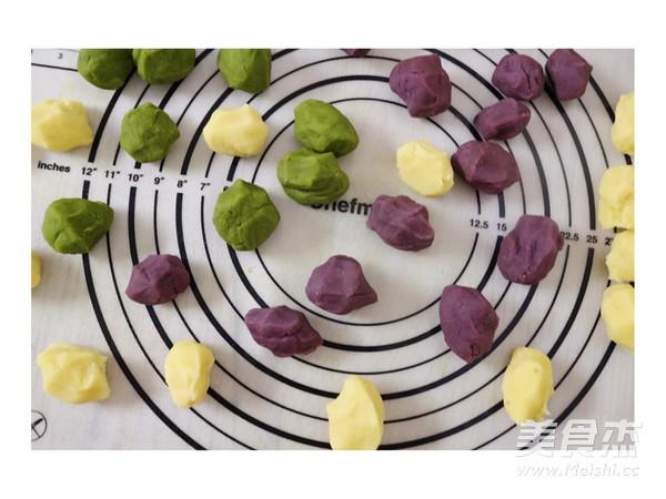 彩色绿豆饼的制作方法