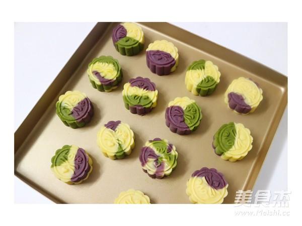 彩色绿豆饼的做法大全