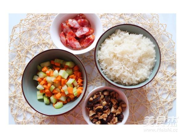 香肠炒糯米饭的做法大全