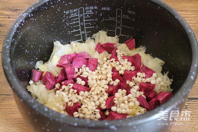紫薯银耳薏仁粥的做法图解