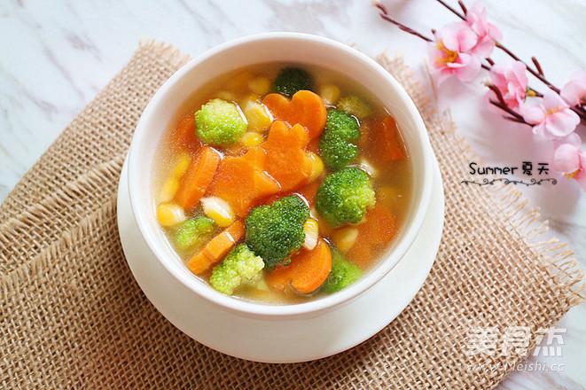 简单又快手,田园蔬菜汤成品图