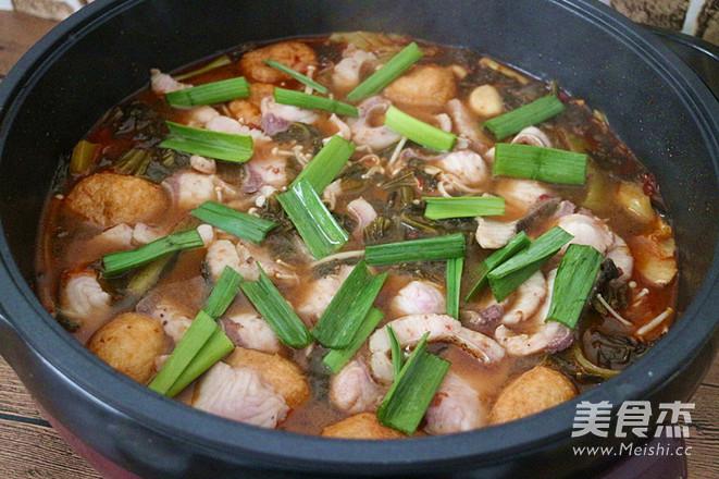 麻辣酸菜鱼片火锅怎样做