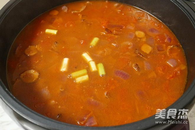 番茄牛肉汤怎样煸
