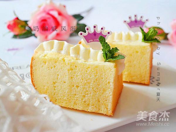 鲜奶油戚风蛋糕成品图