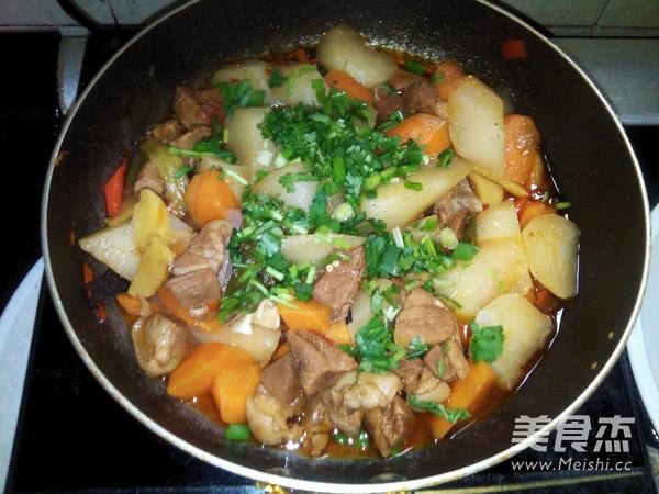 萝卜烧羊肉的步骤