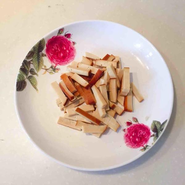 豆腐干炒韭菜的做法图解