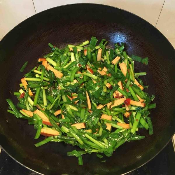 豆腐干炒韭菜怎么炖