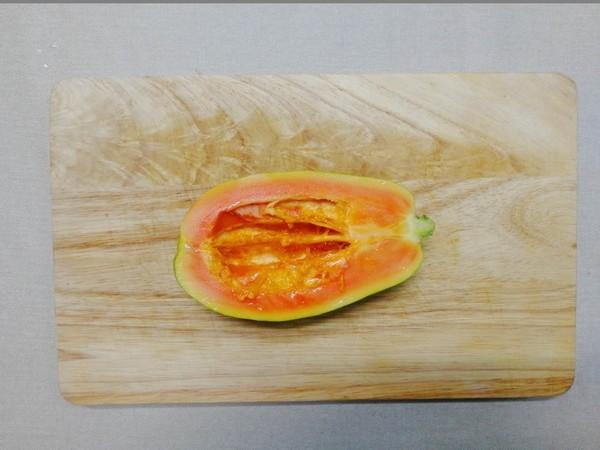 木瓜炖奶的做法图解
