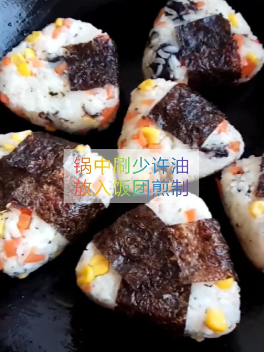 做饭小白也能快速掌握的芝心日式饭团怎么煸