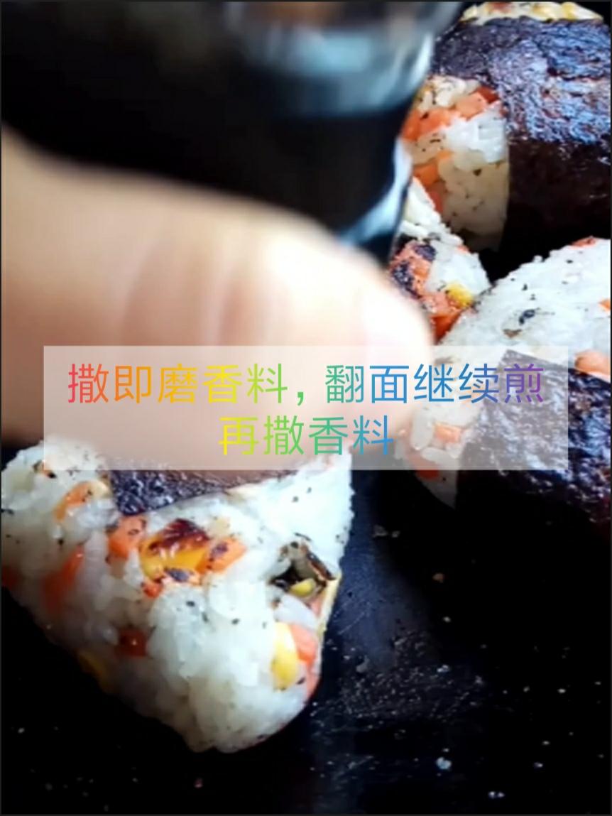 做饭小白也能快速掌握的芝心日式饭团怎样煸