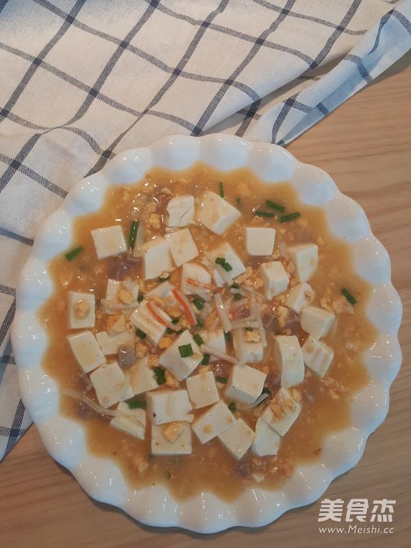咸蛋黄豆腐羹成品图