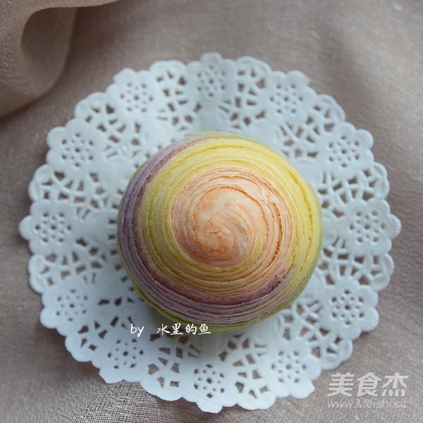 纯天然彩虹蛋黄酥的制作方法