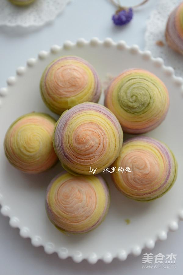 纯天然彩虹蛋黄酥的制作大全