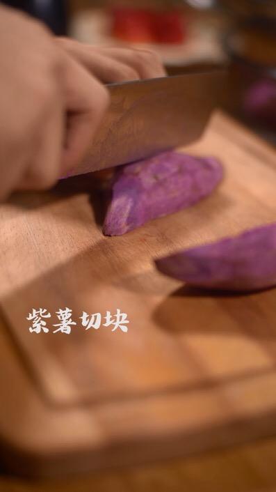 紫薯草莓球的步骤