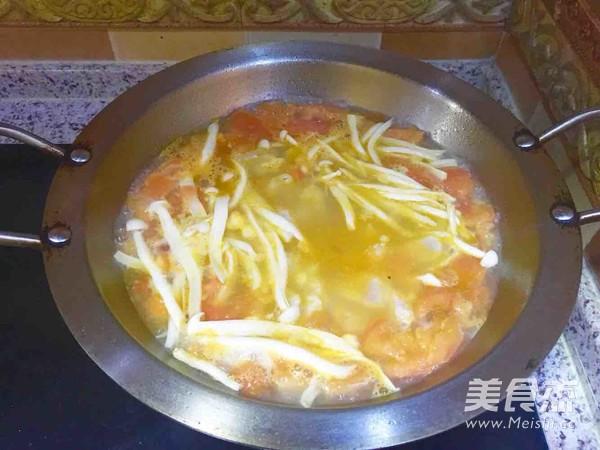 番茄龙利鱼菌菇汤怎么吃