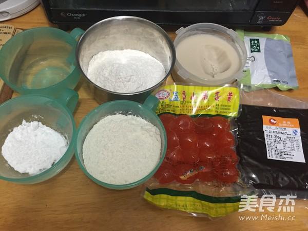 豆沙蛋黄抹茶酥的做法图解