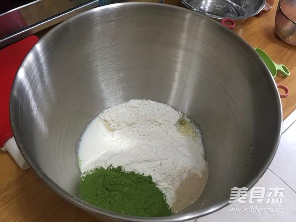 抹茶麻薯蜜豆包的做法图解