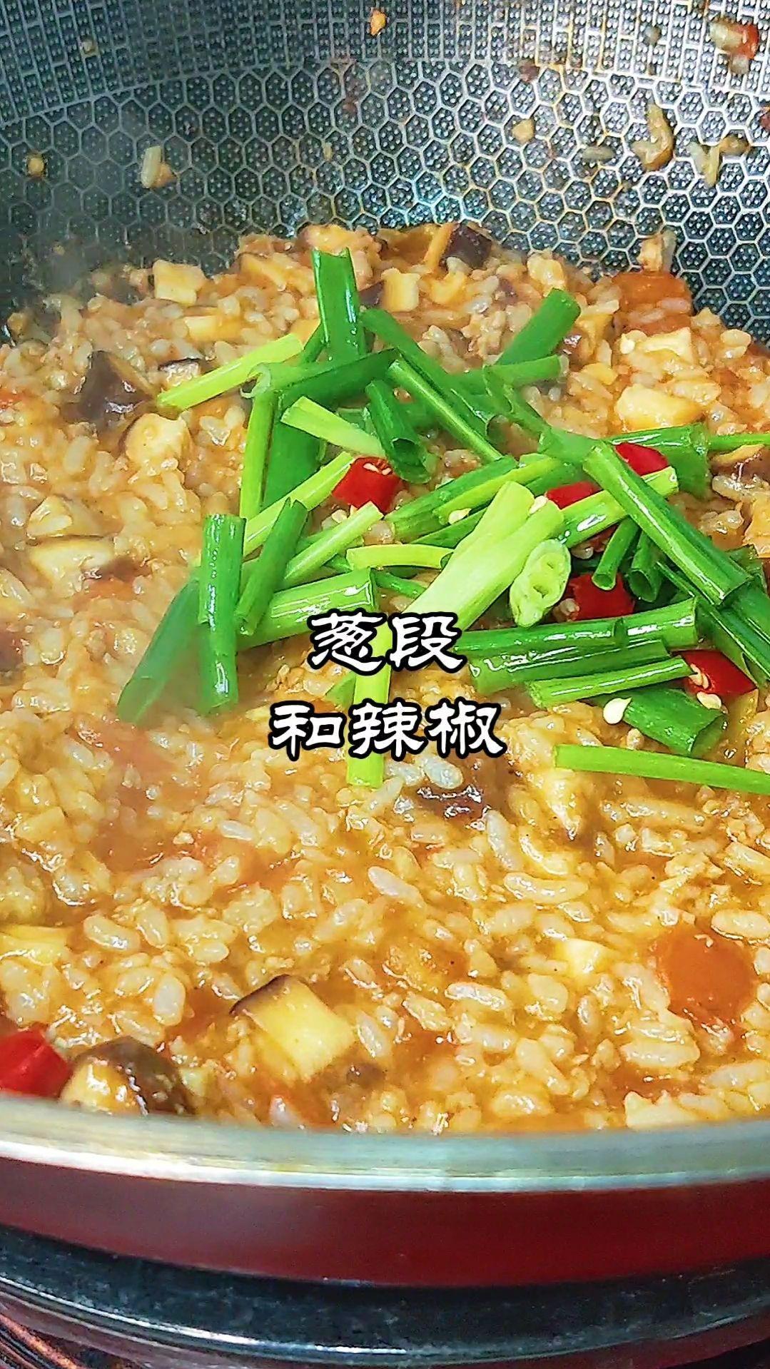 番茄肉酱焖米饭的家常做法