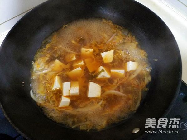 泡菜豆腐酱汤的简单做法