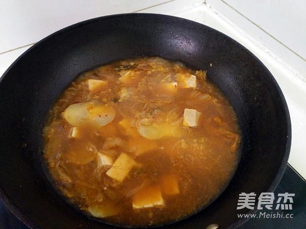 泡菜豆腐酱汤怎么吃