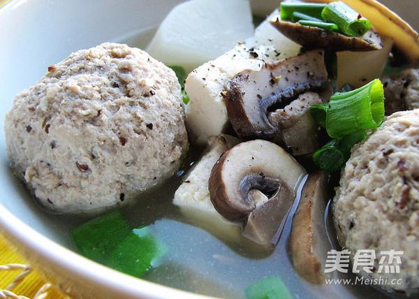 肉丸冬瓜汤成品图