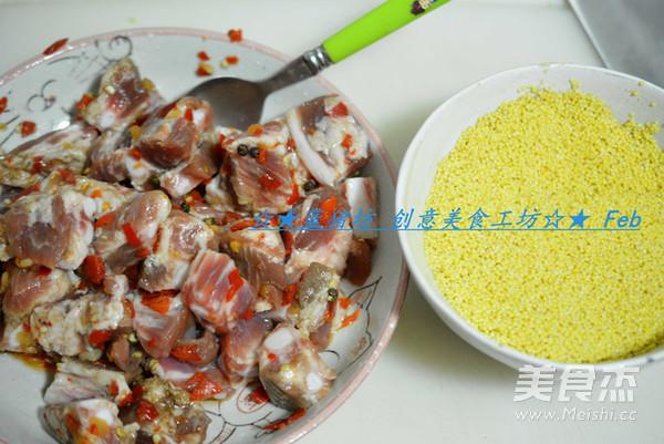 小米蒸排骨的家常做法