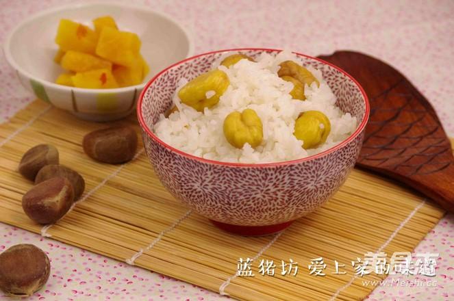 栗子焖饭成品图
