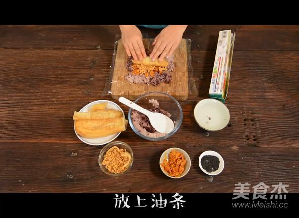 紫糯粢饭团的做法图解