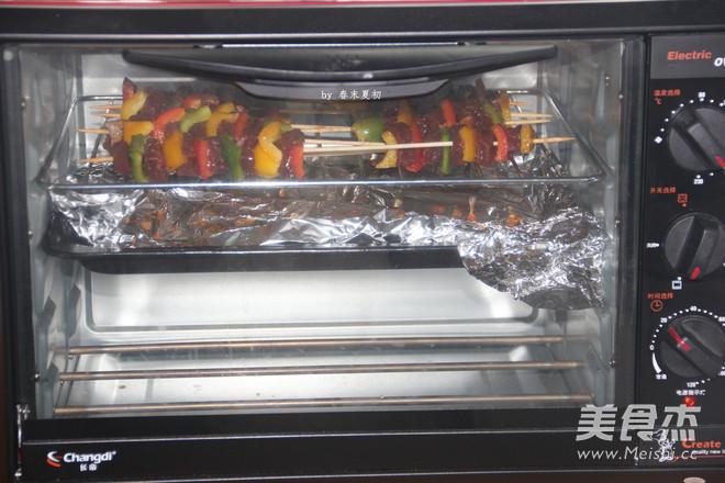 黑椒风味烤什蔬牛肉串怎么炒