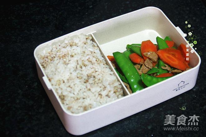 荞麦米饭营养午餐便当的制作大全