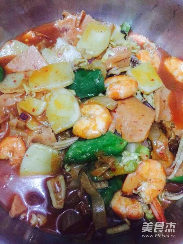 韩式泡菜海鲜锅怎么吃