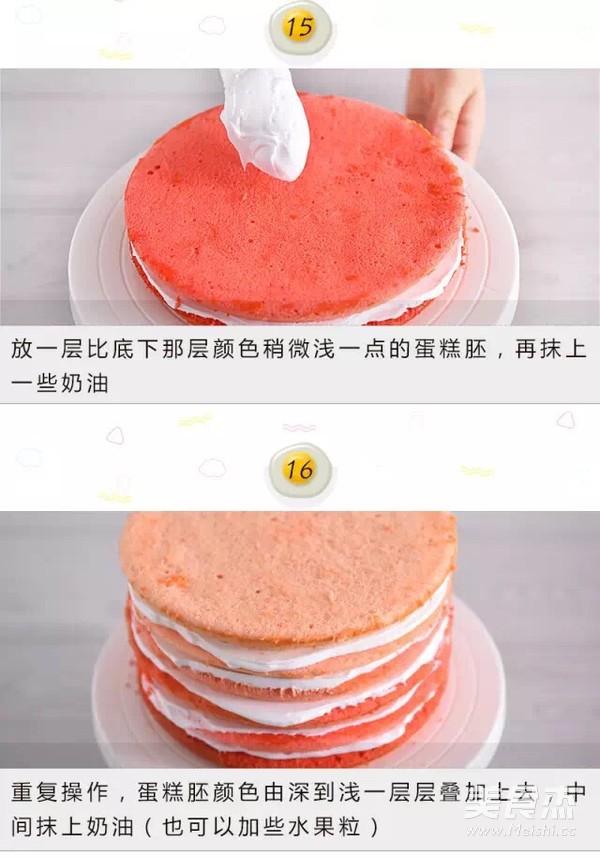 渐变彩虹蛋糕怎么煮