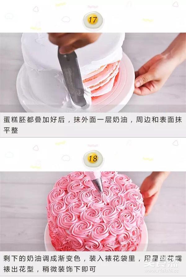 渐变彩虹蛋糕怎么炖