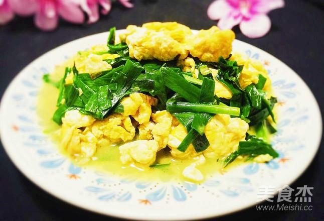 韭菜炒土鸡蛋怎么炒