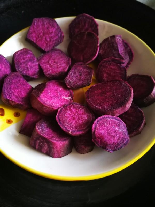 紫薯糯米饼的家常做法