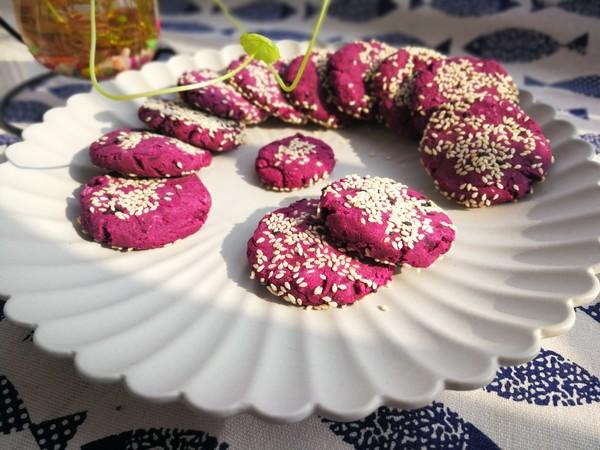 紫薯糯米饼的制作