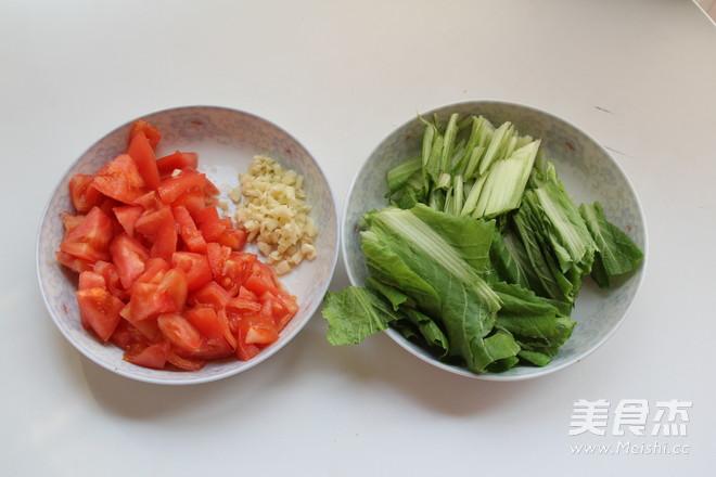 茄汁摆汤面的做法图解