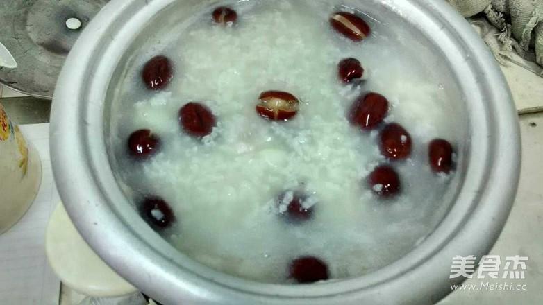 红枣糯米粥的步骤