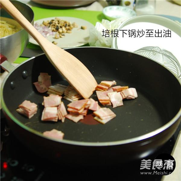 甜虾培根焗意面的简单做法