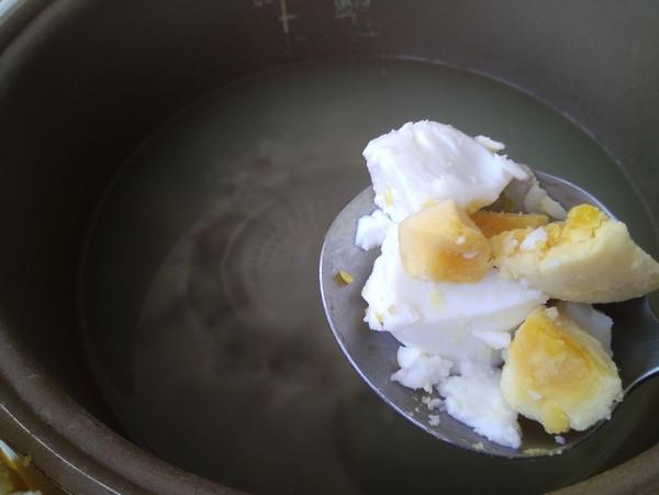 鹅蛋三色藜麦粥的步骤
