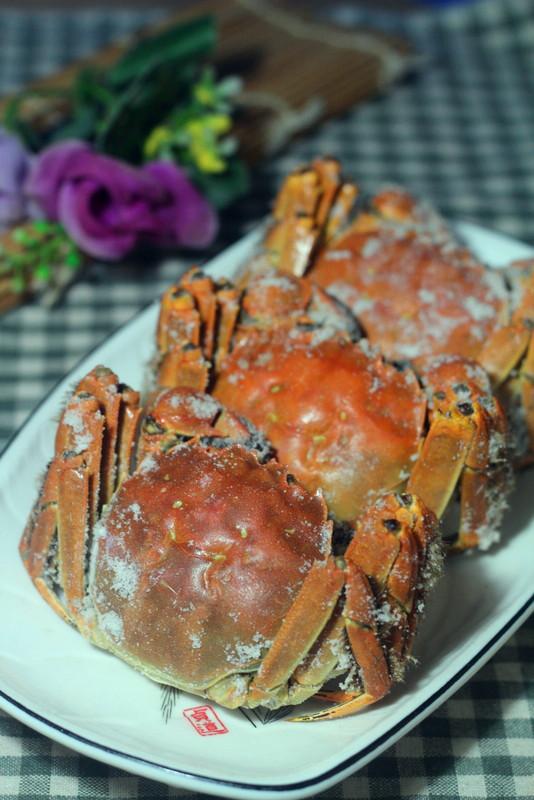 盐焗蟹成品图