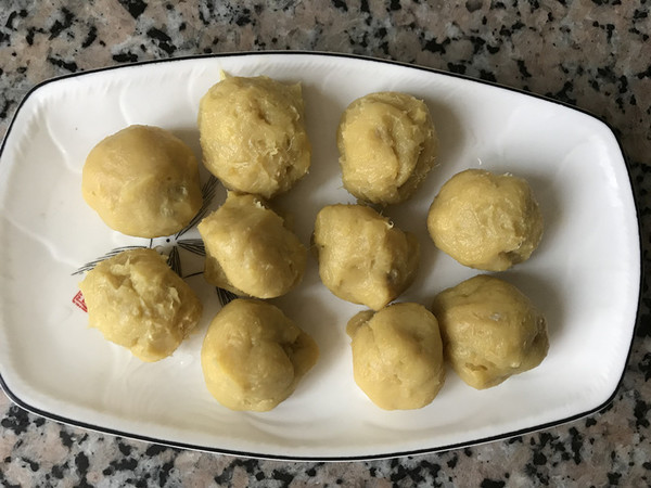 榴莲冰皮月饼的制作