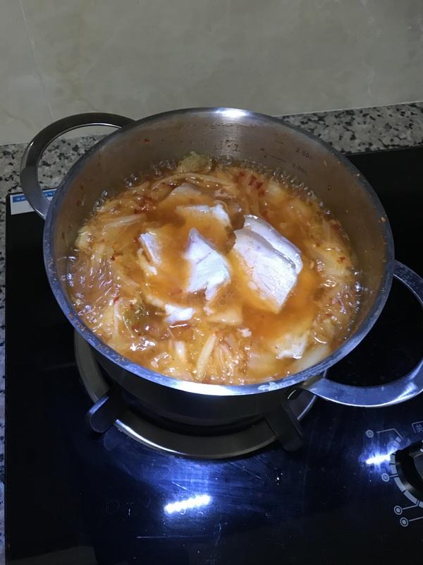 泡菜五花肉芝士锅怎么做